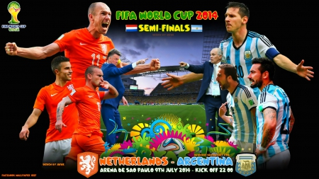 NETHERLANDS - ARGENTINA  SEMI-FINALS WORLD CUP 2014 - world cup 2014 wallpaper, champions league wallpaper, lionel messi, robben, oranje, Ezequiel Lavezzi, nike, brazil world cup 2014, bayern munchen, football, Netherlands wallpaper, louis van gaal, manchester united, messi, gonzalo higuain, Wesley Sneijder wallpaper, world cup wallpaper, world cup brazil 2014wallpaper, lionel messi wallpaper, world cup 2014, Argentina, Wesley Sneijder, robin van persie, fifa world cup, robben wallpaper