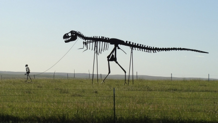 Along The Highway - museum, sign, dinosaur, bones