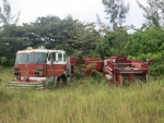 abandon fire trucks