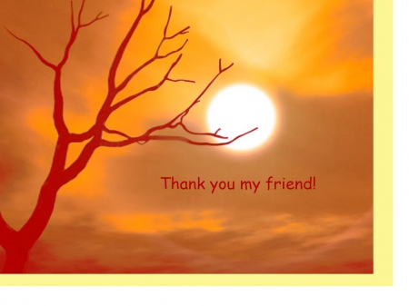 Thank You My Friend 3d And Cg Abstract Background Wallpapers On