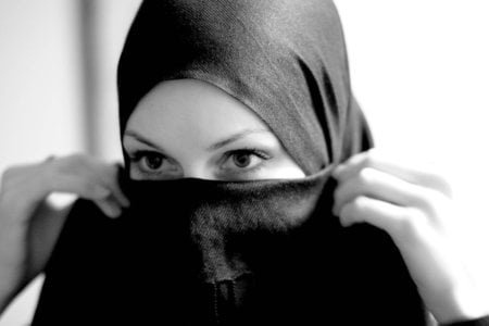 Hijab - veil, muslim, gaze, eyes, girl, custome, people, arab girl, hijab