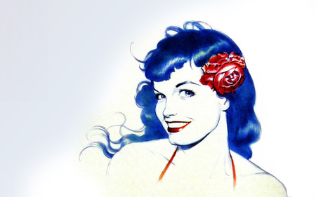 Bettie Page - model, bettie page dave stevens, playboy, muse, icon, hairstyles, alternative models, pin-up