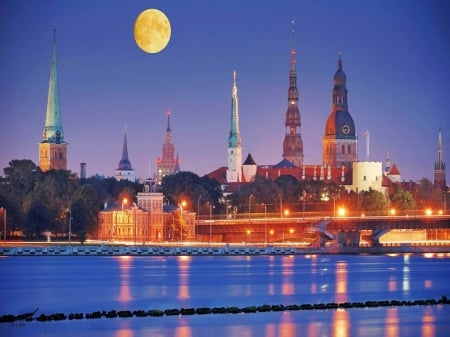 Full Moon over Riga