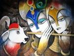 radha with krishna