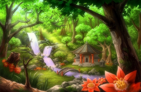 peaceful temple forests amp nature background