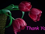 thank you with tulips