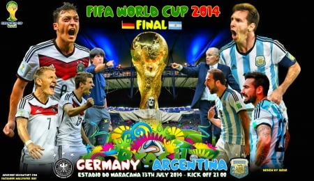 GERMANY - ARGENTINA WORLD CUP 2014 FINAL - world cup 2014 wallpaper, thomas muller, lionel messi, lavezzi, Germany World Cup wallpaper, argentina, bayern munchen, football, messi wallpaper, mesut ozil, dimaria, messi, world cup wallpaper, world cup brazil 2014 wallpaper, world cup 2014, WORLD CUP 2014 FINAL, fifa world cup, WORLD CUP 2014 FINAL wallpaper