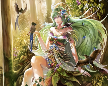 Forest Nymph - Fantasy & Abstract Background Wallpapers on Desktop ...