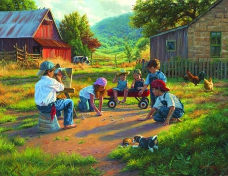 The Art of the Young - farm, art, young, country, childrens