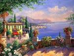 'Overlooking the Mediterranean Sea'