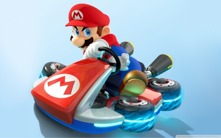 mario - drive, red, mario, ride, hat