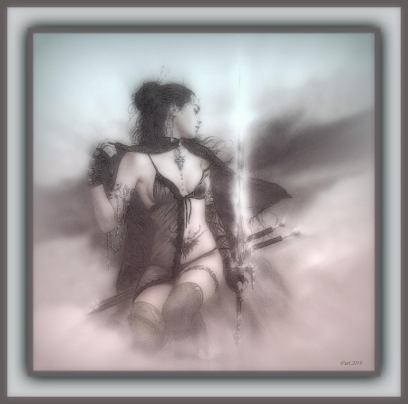 Female Warrior - Girl, Woman, Art, Dream, Fantasy, Luis Royo, Warrior