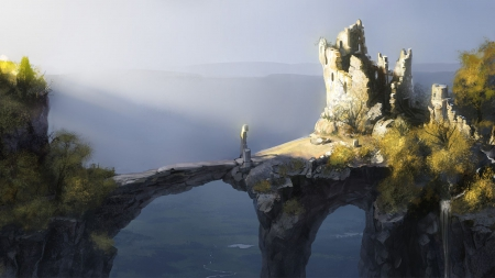 Architecture Art - art, bridge, Architecture, ruin, castle