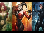 Catwoman, Harley and Poison Ivy