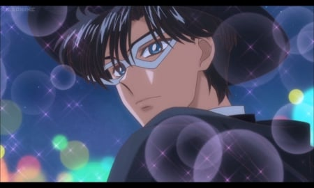 Tuxedo Kamen - cg, sparks, magic, anime, cape, handsome, sailor moon, beauty, short hair, cool, tuxedo, awesome, mamoru, mamoru chiba, hd, guy, darren, beautiful, mantle, moon, blossom, prince endymion, blue eyes, light, black hair, sailormoon, gorgeous, male, glowing, hat, boy, magical, mask