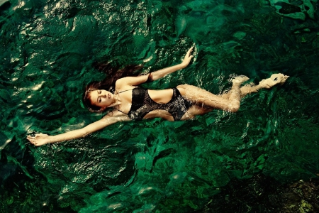 Swimming - water, woman, sea, swim