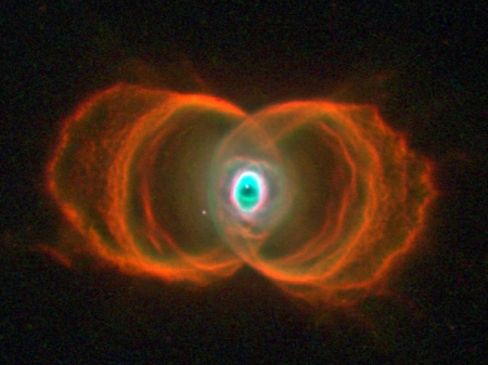 Hourglass nebula - symmetry, waves, NASA, picture