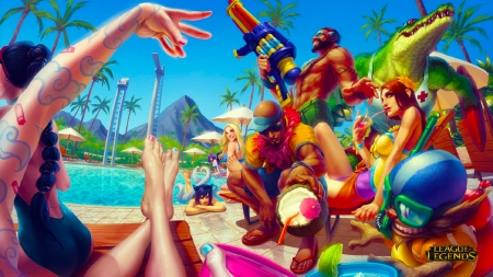 Crazy Beach Fun 3d And Cg Abstract Background Wallpapers On