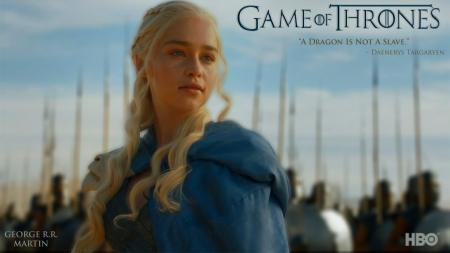 Game of Thrones - Daenerys Targaryen - house, stormborn, westeros, game, a song of fire and ice, army, Khaleesi, Emilia Clarke, Daenerys Targaryen, fantasy, tv show, George R R Martin, Targaryen, GoT, essos, HBO, Tv series, Game of Thrones, entertainment