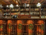 fantastic old fashioned wooden bar hdr