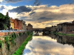 wonderful scene in florence italy hdr