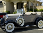 1931 Ford Model A, Beige With The Top Down