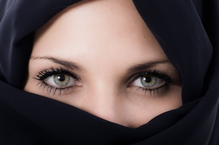Eyes - black, eyes, woman, eye