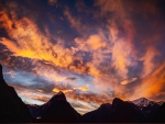 spectacular sky over mountains in new zealand