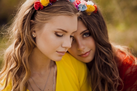 Sisters - gorgeous face, wonderful, beauty, sisters, girls