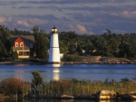 lovely island lighthouse