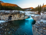 First Snow At Elbow Falls