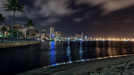 Beautiful Seaside In Durban S Africa At Night Beaches Nature
