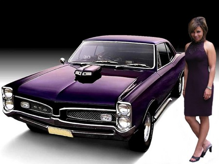 Classic Pontiac Purple Girls And Cars Cars Background Wallpapers