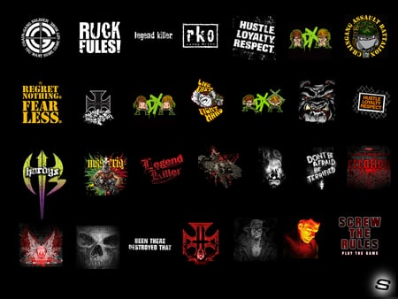 WWE LOGOS - cena, logos, wrestling, sleek, all, wwe