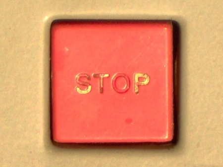 Stop! - red, button, stop, square