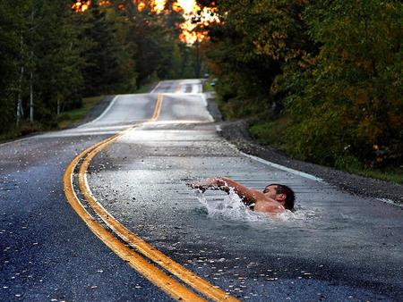 Just a Little Bit - life, way of life, funny, road, dream, swimming