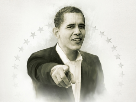 YES WE CAN ! - leader, president obama, white, peace, nobel, face, hope, obama, power, popular, portrait, political, nice, hand, black and white, cool, beautiful, stars, usa, barack obama, nobel prize, drawing, boy, politique skz, smile, president, people, finger