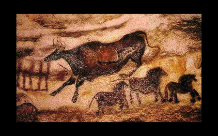 Paleolithic wall art - lascaux, wonderful, stunning, religious, spiritual, caveman, animism, nice, art parietal, colored, homo sapiens, horses, cool, france, paleolithic, neanderthal, awesome, history, caves, bulls, wall art, beautiful, old, cave, picture, animal, photography, stone, wild, painting, cavemen, prehistory, bull, other, animals, amazing, ancient, colors, horse, drawing, prehistoric, prehistoire