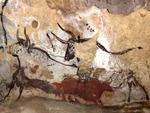 Paleolithic wall art in Lascaux
