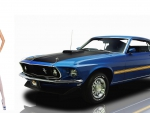 Ford Mustang Mach 1 and supermodel