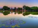 sukhothai historical park in bankok thailand