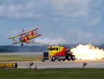 Biplane Airplane And Jet Truck