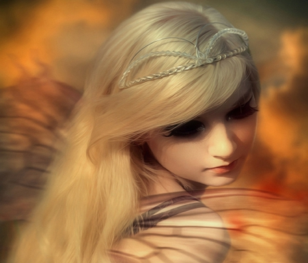 ~Attractive Angel~ - pretty, softness beauty, digital art, angels, beautiful girls, emotional, people, girls, models, lovely, love four seasons, creative pre-made, spring, mixed media, attractive, weird things people wear, backgrounds