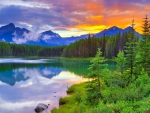 --Herbert Lake at Sunset--