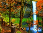 --Waterfall in Autumn--