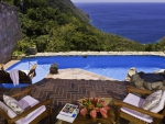 amazing hotel room view in st lucia