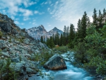 rocky mountain stream hdr