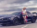 Cowgirl and Her Camaro