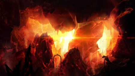 welcome to hell fantasy amp abstract background wallpapers