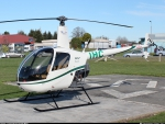 ZK-IHC Garden City,Robinson helicopter R22